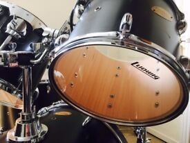 Ludwig Accent Custom 5 piece Drum kit with Zildjian Cymbals, Hardware, Protection Racket Cases