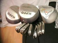 Hippo Golf clubs and Golf Master bag