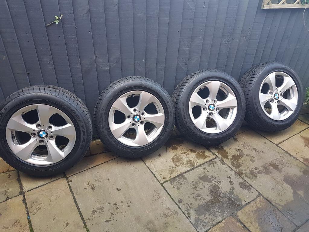 """4 BMW 16"""" 3 Series F30 Alloys - New Goodyear Run Flats!"""