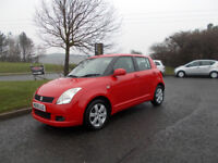 SUZUKI SWIFT 1.5 GLX HATCHBACK RED NEW SHAPE 2009 ONLY 69K MILES BARGAIN £2250 *LOOK* PX/DELIVERY