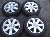 "16"" Genuine Mk1 Audi TT Alloy Wheels, 5x100, Volkswagen Golf, Bora, A3, Skoda *POSTAGE AVAILABLE*"