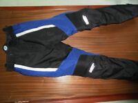 Ladies motorcycle trousers.