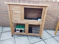 Rabbit/Guinea-pig cage and separate run