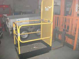 Forklift attachment man ride work cage