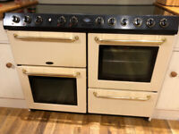 BELLING COOKCENTRE IN IVORY DOUBLE OVEN, GRILL, ELECTRIC WARMING PLATE, 6 GAS BURNERS - BARGAIN!!