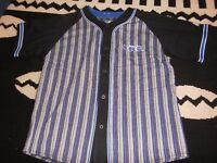 orlando magic basketball baseball button shirt xl