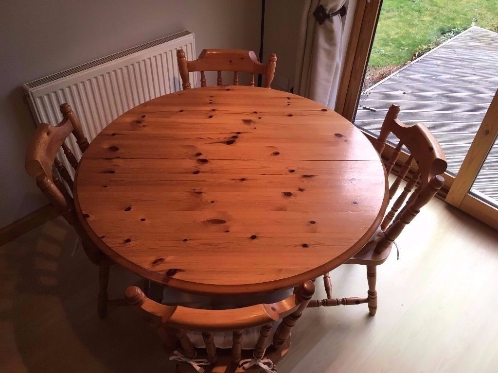 Pine Dining Table And Four Chairs Extendable In Forres Moray Gumtree