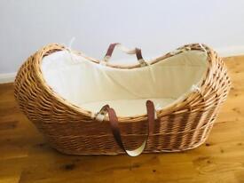 Brown Wicker Moses Basket