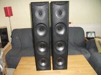 WHARFEDALE MONITOR MFM 7 TOWER SPEAKERS