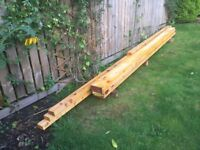 New treated sawn timber and C16 joists at half new price