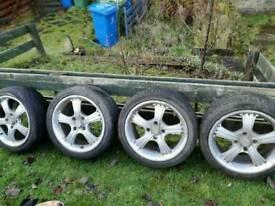 """16"""" alloys 195-45-16 tyres"""