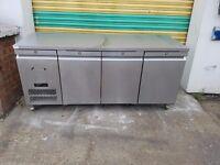 commercial williaams undercounter three 3 door fridge work top for restaurant