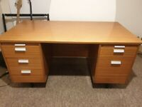 Solid Wood Desk with five drawers