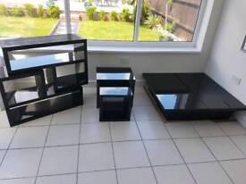 Gloss Black 3pc furniture set