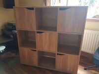 Cube shelf unit - oak effect - *** provisionally gone ***