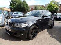 BMW 1 Series 2.0 118d M Sport 5dr 2008 (08 reg), Hatchback, BLACK, DIESEL, FULL VOSA HISTORY