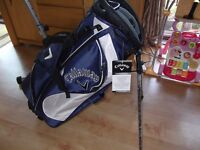 CALLAWAY RAZR EDGE BLUE AND WHITE STAND BAG BRAND NEW STILL HAS TAGS AND PLASTIC ON LEGS