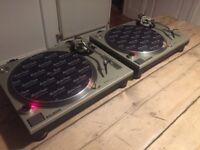 2x Technics 1200 sl mk2 turntables - superb condition