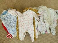 Free new/nearly new tiny baby/newborn girls clothes - Free