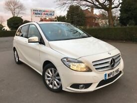 FINANCE £167 PER MONTH, 2013 MERCEDES B CLASS B180 SE 1.6 PETROL BLUEEFFICIENCY MPV WHITE HPI CLEAR