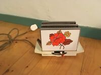 VINTAGE Retro Toaster 1980's, Russell Hobbs Poppy Design, side loading WORKING