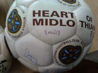 Hearts singed footballs