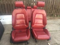Audi A3 Red leather seats and door cards (3 door)