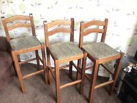 Old style high chairs x3