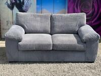New Amalfi 2 Seater Standard Back Fabric Sofa In Charcoal Grey