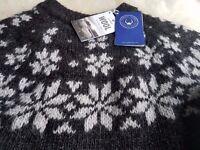 Icelandic Jumper Sweater Norwegian Scandinavian original 100% wool, sizes S M