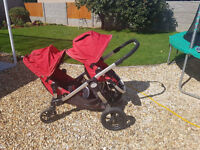 For sale Baby Jogger Citi Select Twin Pushchair in red