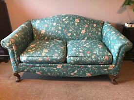 Antique 2 seater sofa - floral - shabby chic - vintage -country