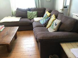 6 Seater Corner Sofa- Charcoal Grey