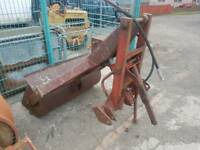 Tractor three point linkage hydraulic rear loader with bucket