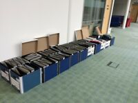 Boxes of lever arch files for clearance, free of charge