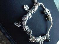 Pandora Style Charm Bracelet With Charms