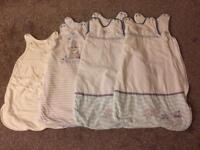 4 unisex boy/girl sleeping bags 0-6 months grobag