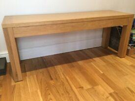 JOHN LEWIS Solid American Oak Bench
