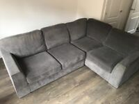 Corner Sofa Bed, right hand, practically new.