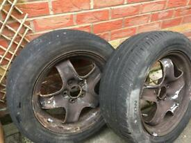 Vauxhall Vectra C set of 4 wheels with next to new tyres 215/55 r16