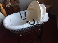Clair de Lune baby Moses basket
