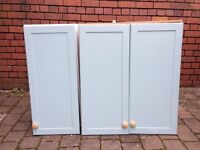 Shaker wall units...used in utility room.