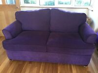 *Lovely purple double sofa bed excellent condition* £225