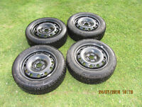 15 inch winter tyres on wheels