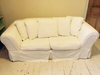 Gorgeous Large Cream Sofa Bed / Bed Settee