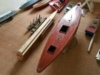 Assorted model boats
