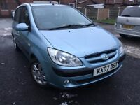 07 plate - Hyundai Getz - 1.4 Automatic - one year mot - warranted low 38K on the clcok - 5 Door