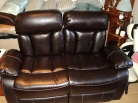 New 2 & 3 seater brown sofas