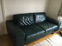 LEATHER sofa (3 piece) .BLUE. NATUZZI.