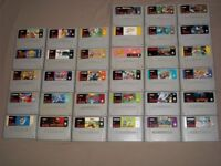 snes console with 2 pads & 33 games sunset riders megaman x super double dragon and more